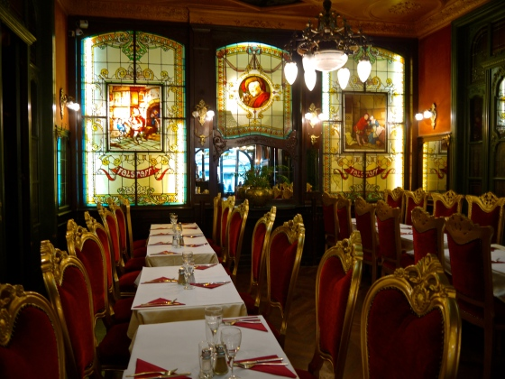Falstaff restaurant with its Art Noveau decor